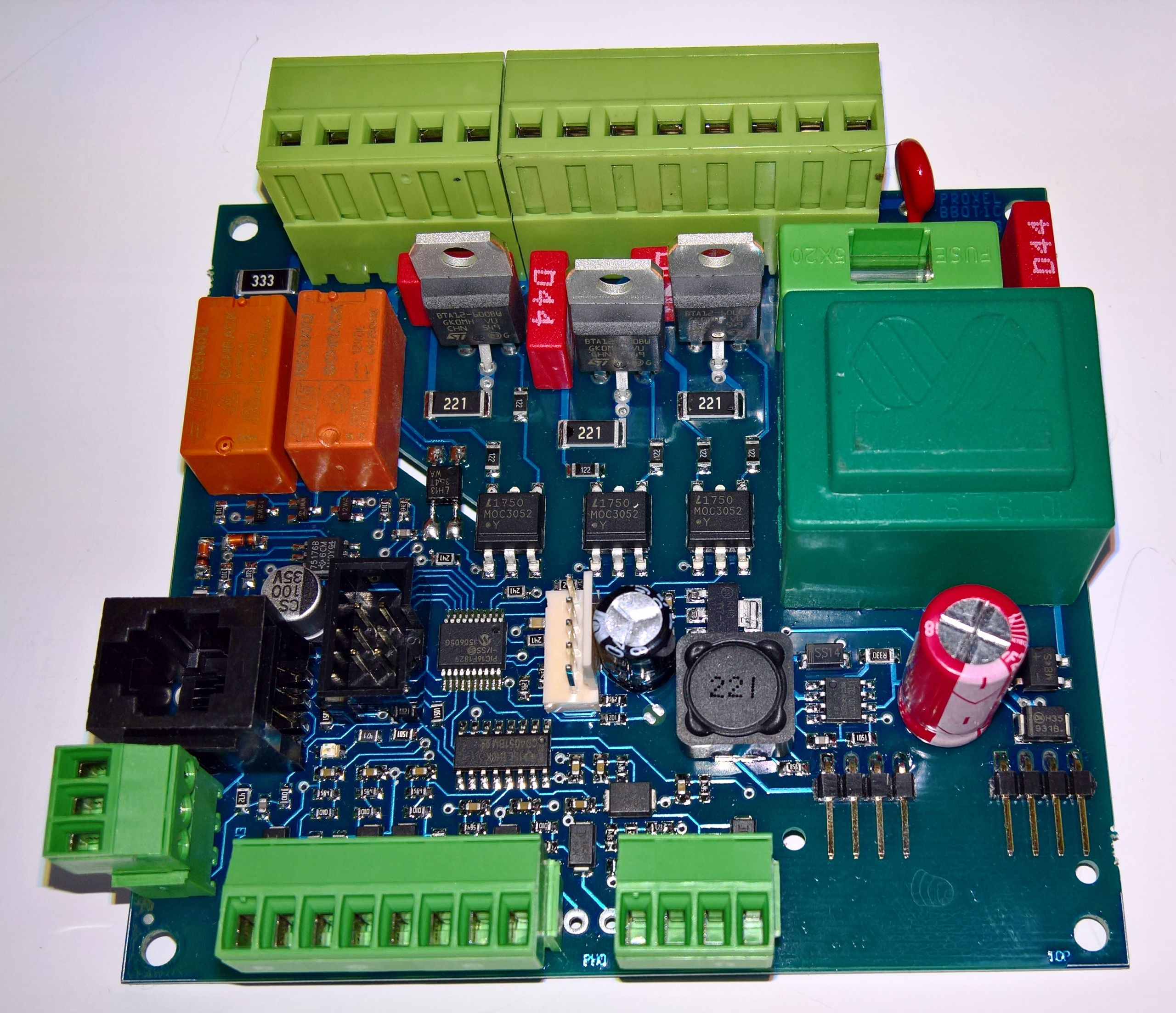 Control board for biomass combustion systems UniPel, motherboard MB03