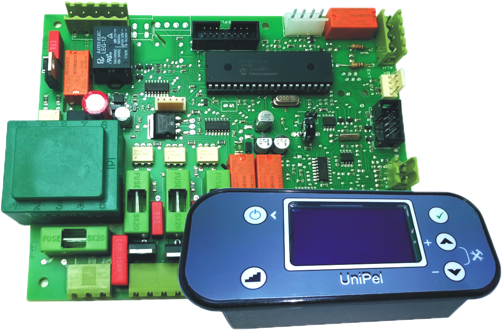 Control board for pellet combusting appliances UniPelGD2